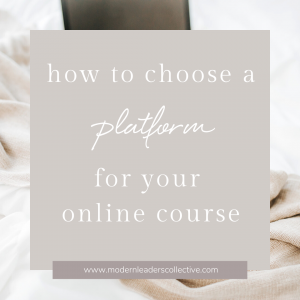 How to choose a platform for your online course